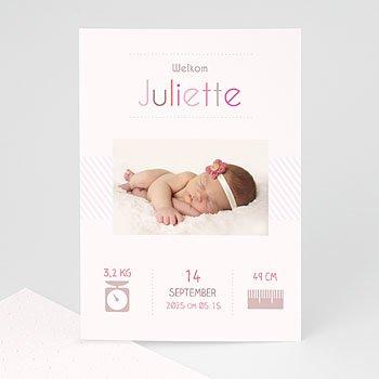 Geboortekaartje meisje - welkom kleintje - 1