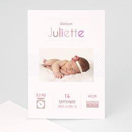 Geboortekaartje meisje welkom kleintje