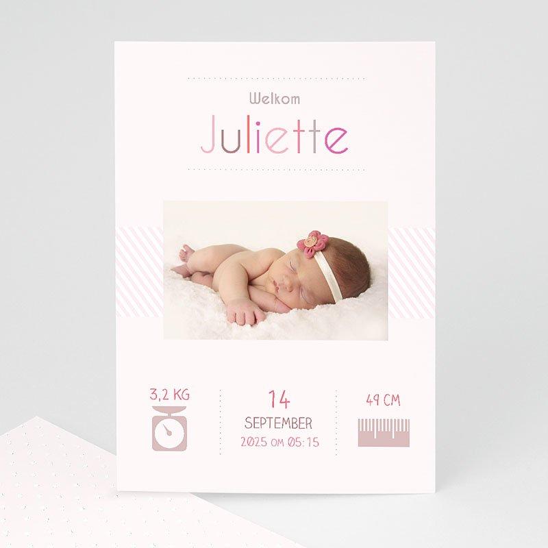 Geboortekaartje meisje - welkom kleintje 35052 thumb