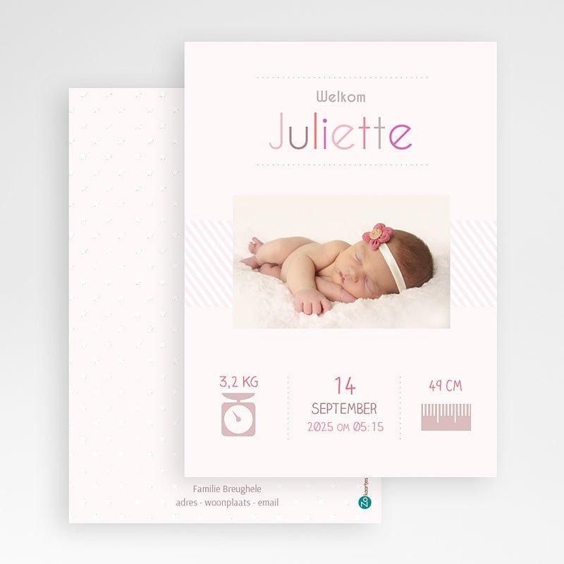 Geboortekaartje meisje - welkom kleintje 35054 thumb