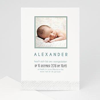 Geboortekaartje jongen - Bij de familie - 1