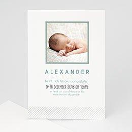 Geboortekaartje jongen Bij de familie