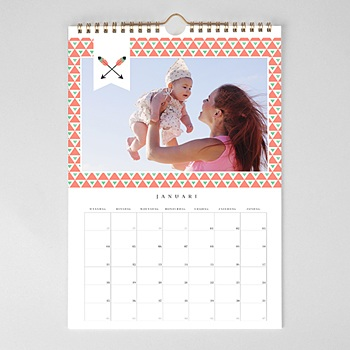 Muurkalender 2020 - geometrische kalender - 1