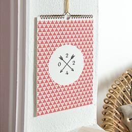 Personaliseerbare kalenders - geometrische kalender - 1