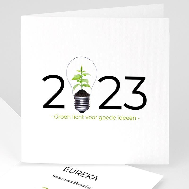 Professionele wenskaarten - Groen idee 35749 thumb