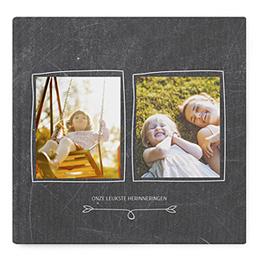 Fotoabum vierkant 30x30 cm - Album op leisteen - 1