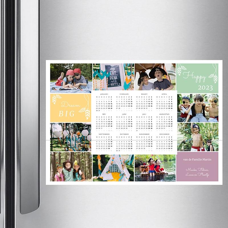 Kalender jaaroverzicht - De kleuren in het jaar 36315 thumb