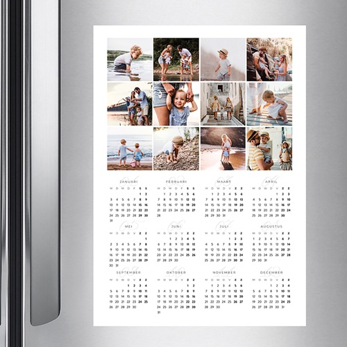 Kalender jaaroverzicht - Damier 36387 thumb