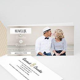 Aankondiging Huwelijk Chique zwart wit goud
