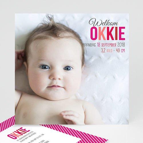 Geboortekaartje meisje - Ochtendglorie 36621 thumb