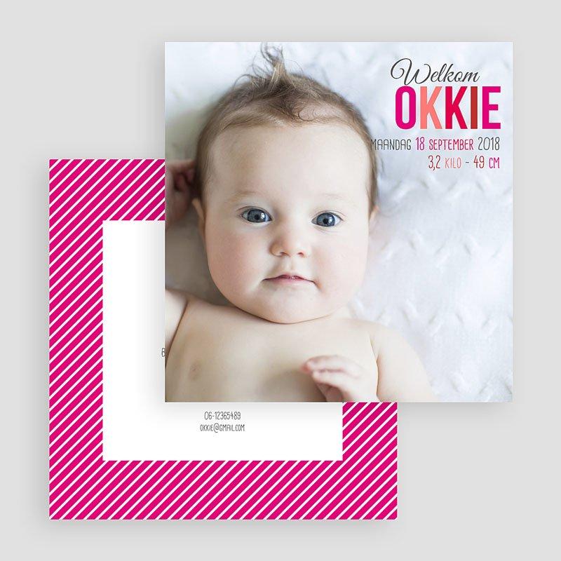 Geboortekaartje meisje - Ochtendglorie 36623 thumb