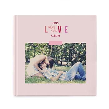 Fotoboeken Vierkant 20x20 cm - Valentijns album - 0