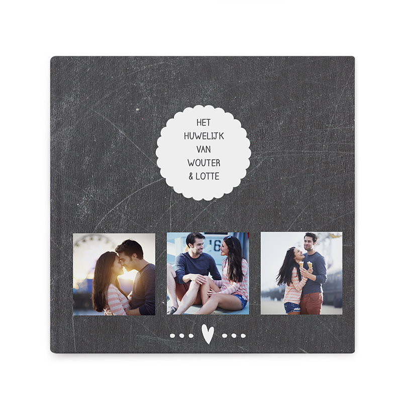 Fotoabum vierkant 20x20 cm Leisteen album