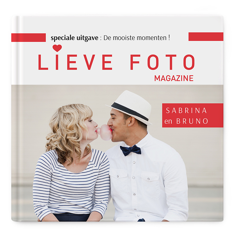 Fotoabum vierkant 30x30 cm Album vol liefde