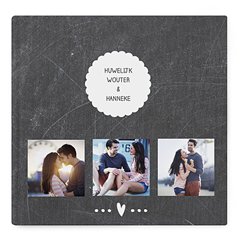 Fotoboeken Vierkant 30x30 cm - Leisteen album - 0