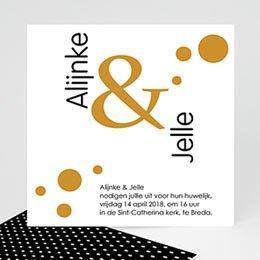 Aankondiging Huwelijk Confetti 2