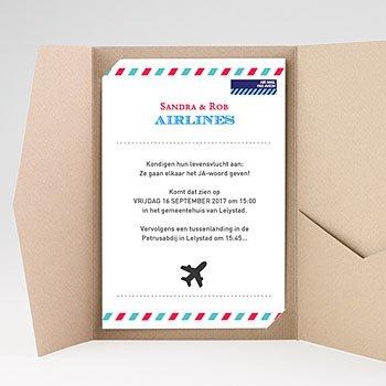 Rechthoekige trouwkaarten - Op reis JA - 0