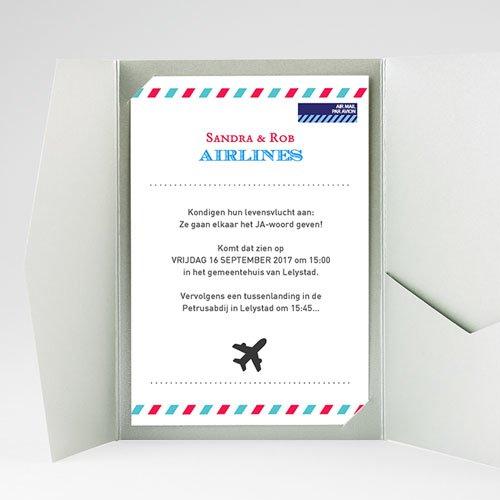 Rechthoekige trouwkaarten - Op reis JA 36912 thumb