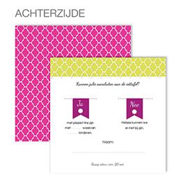 Antwoordkaarten Art deco kaart