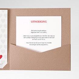 Cartes d'invitations Mijn hart, jouw hart