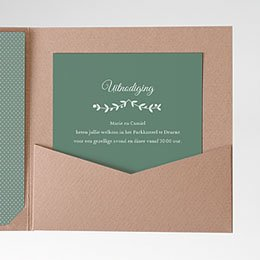Cartes d'invitations krans met blaadjes