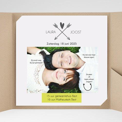 Vierkante Trouwkaarten - Laat een boodschap na 37150 thumb