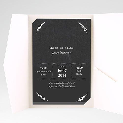 Rechthoekige trouwkaarten Met lauweren pas cher