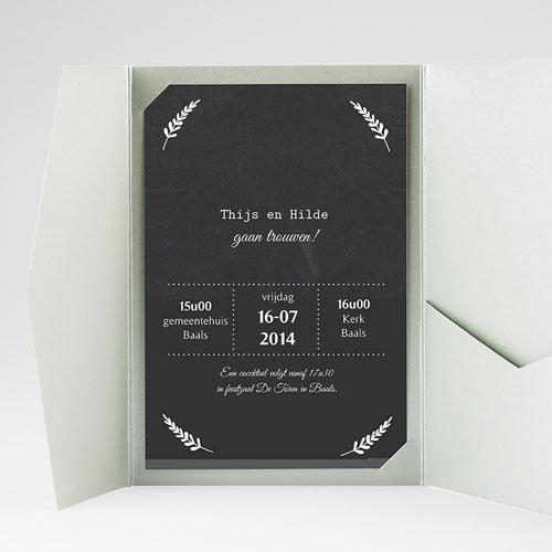 Rechthoekige trouwkaarten Met lauweren gratuit