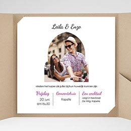 Aankondiging Huwelijk Art deco kaart