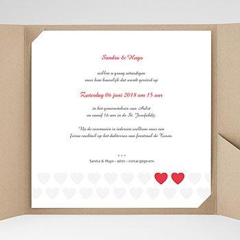 Vierkante Trouwkaarten - Mijn hart, jouw hart - 0