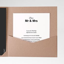 Cartes d'invitations Ouderwets modern