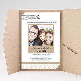 Rechthoekige trouwkaarten familieboodschap