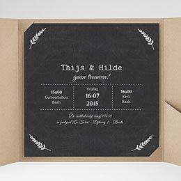 Aankondiging Huwelijk Met lauweren