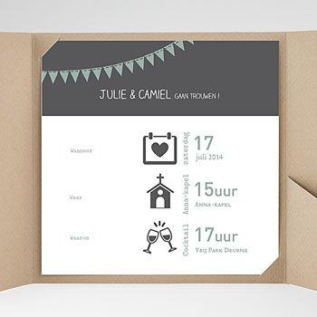 Vierkante Trouwkaarten - decoratief trouwkaartje - 0