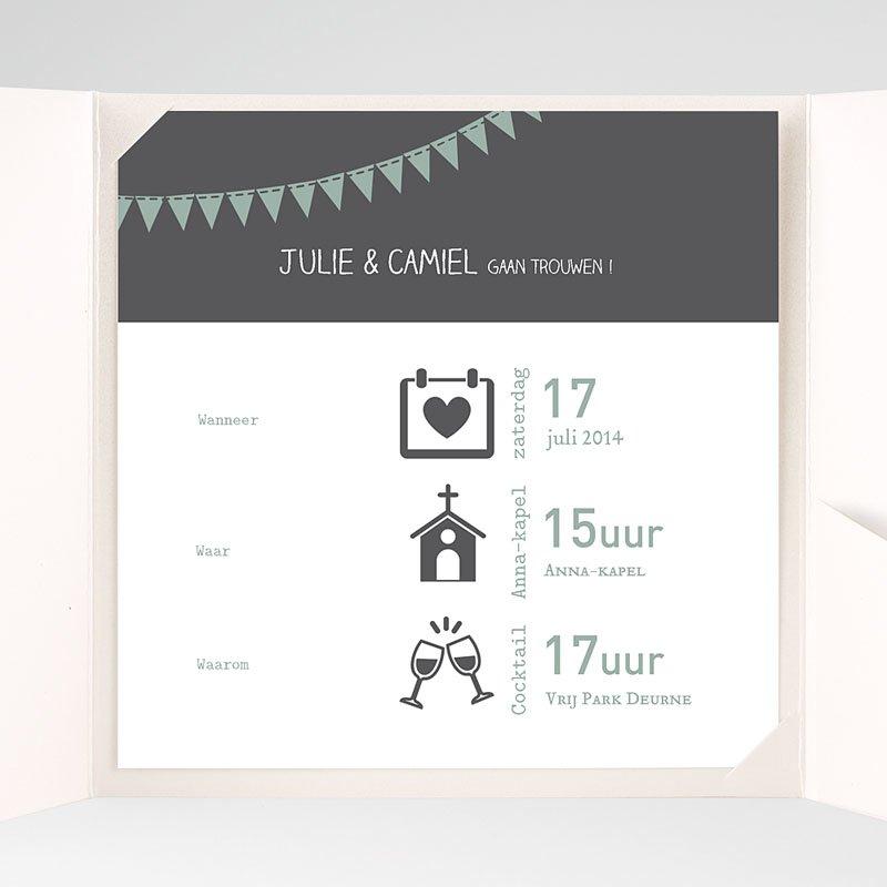 Vierkante Trouwkaarten - decoratief trouwkaartje 37757 thumb