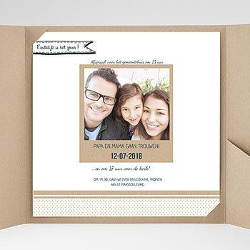 Vierkante Trouwkaarten - familieboodschap - 0