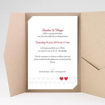 Rechthoekige trouwkaarten - Mijn hart, jouw hart - 0