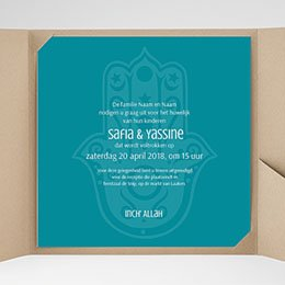 Vierkante Trouwkaarten - Kashmir - 0