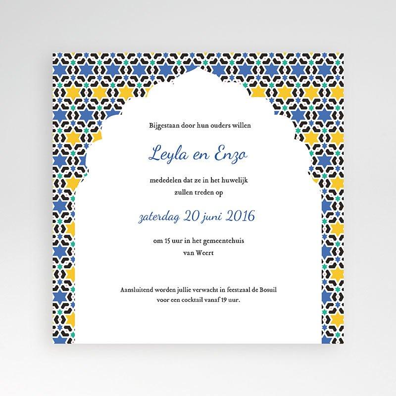 Vierkante Trouwkaarten - Casablanca 38132 thumb