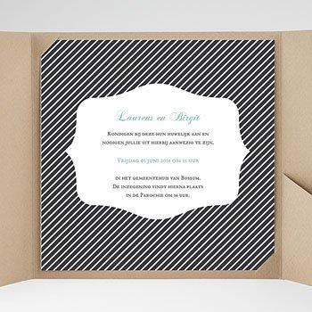 Vierkante Trouwkaarten - Rayures noires - 0