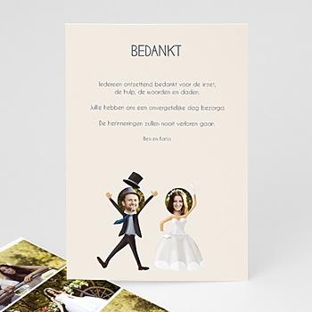 Bedankkaartjes huwelijk - Wij gaan t r o u w en - 0