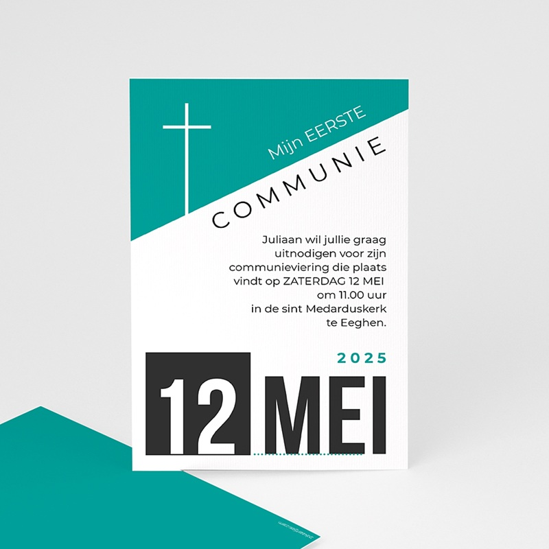 Uitnodiging communie jongen - wallposter 40535 thumb