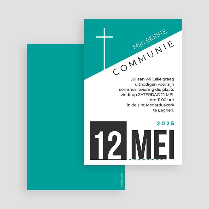Uitnodiging communie jongen - wallposter 40537 thumb