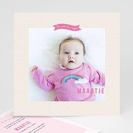 Aankondiging Geboorte Roze wonderen