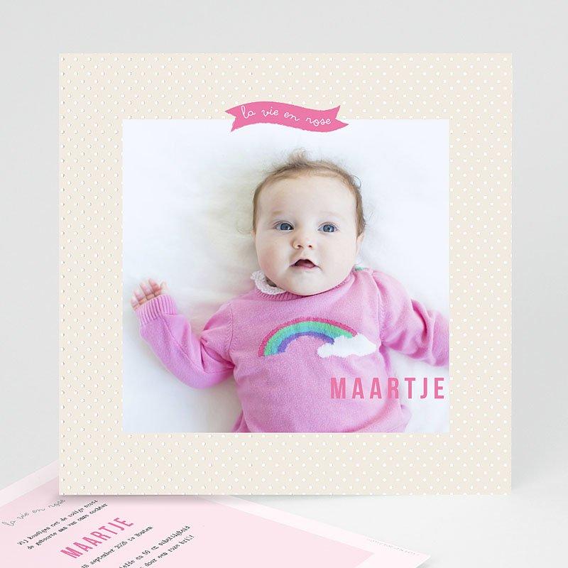 Geboortekaartje meisje - Roze wonderen 40654 thumb