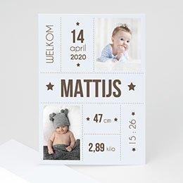 Geboortekaartje jongen Sterrenieuws
