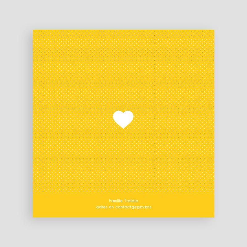 Geboortekaartje meisje Roze en geel pas cher
