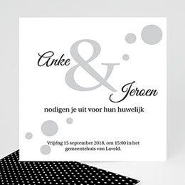 Aankondiging Huwelijk Confetti 1