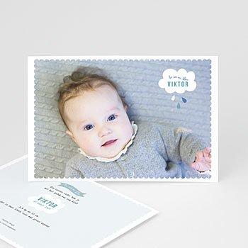 Geboortekaartje jongen - blauwe dromen - 0
