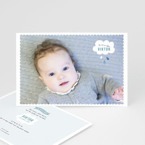 Geboortekaartje jongen - blauwe dromen 40805 thumb